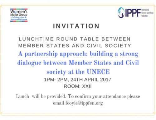 Save the date: Lunch Roundtable with Members States