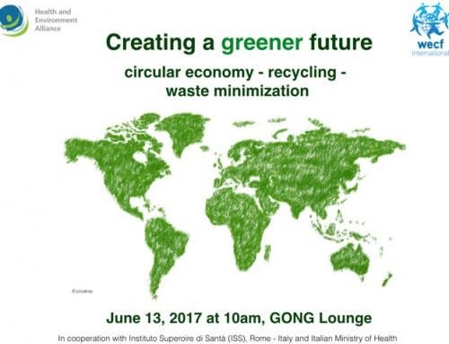 "Save the date: Side Event ""Creating a Greener Future"""