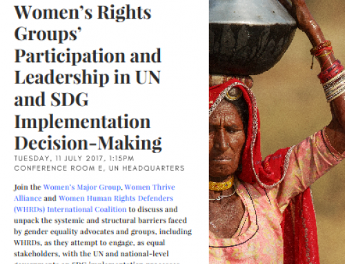 HLPF Side Event: Still Left Behind: Women's Rights Groups' Participation and Leadership in UN and SDG Implementation Decision-Making