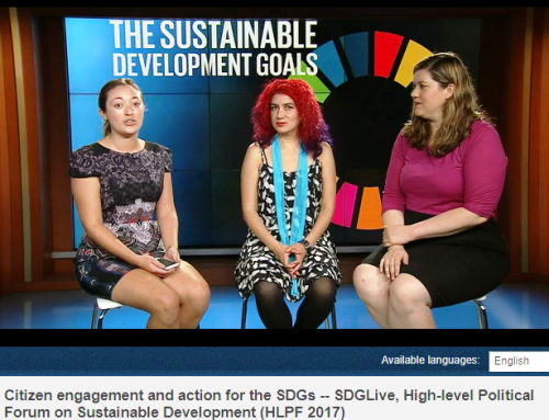 HLPF 2017: Luisa Emilia Reyes's Participation at the SDGLive