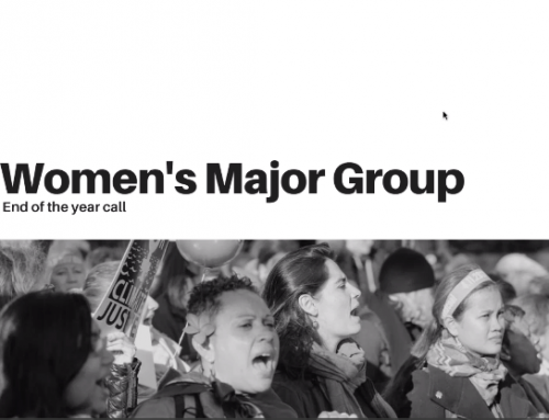 Women's Major Group End of the Year Call