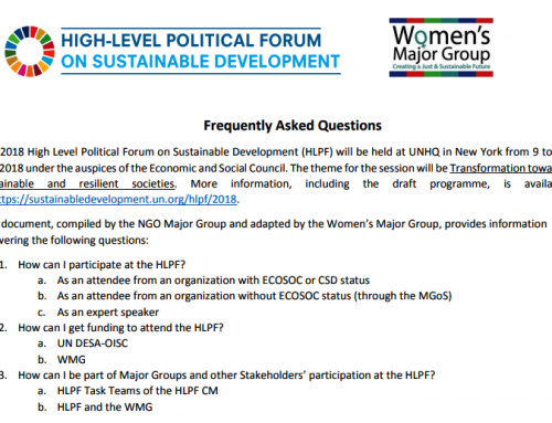 Learn more about participating in HLPF with the Women's Major Group!