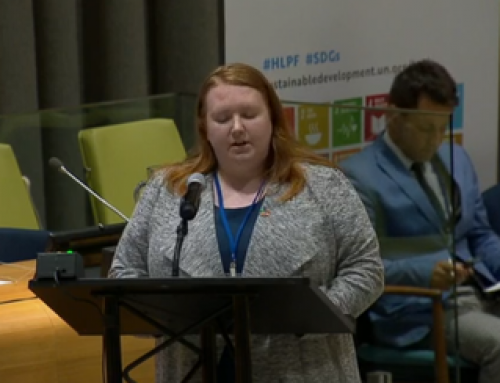 HLPF 2018: Jaclyn Blickley's intervention at the 49th meeting of the ECOSOC High-Level segment 2018