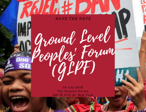 HLPF 2019: Ground Level Peoples' Forum (GLPF)